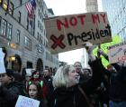 #Not My President sign at anti-Trump rally