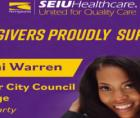 (SEIU) Healthcare Pennsylvania endorsed Green Party candidate Kearni Warren, who is running for Chester City Council.