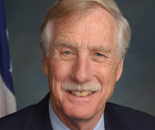 Sen. Angus King (I-Maine), a co-sponsor of the Freedom to Vote Act, the pared-down version of the For the People Act,