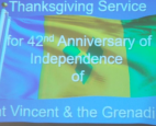 St. Vincent and the Grenadines warmest congratulations on the occasion of the nation's 42nd Anniversary of Independence.