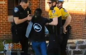 Baltimore Police taking Freddy Gray into custody after he complained of injuiries