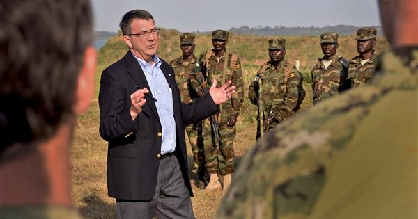 Deputy Defense Director Ash Carter in Uganda