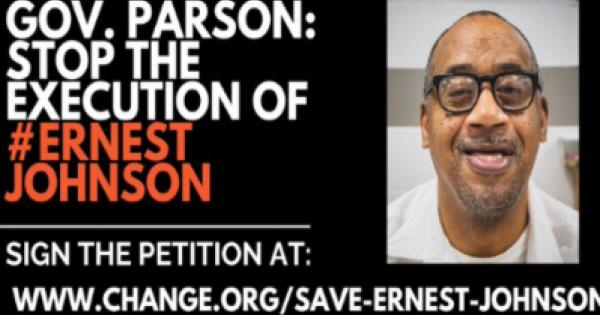 sent Missouri Governor Michael L. Parson a plea to stay the execution of Ernest Lee Johnson.