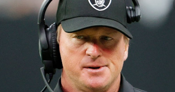 Gruden was forced to resign as Las Vegas Raiders coach