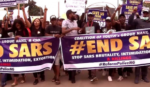 One year after peaceful #EndSARS protests ended in a brutal crackdown by Nigerian security forces in Abuja, Lagos