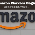 demonstration in support of the Amazon workers union drive Saturday, February 27, 2021.