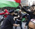 NYPD CLASHES WITH DEMONSTRATORS IN MANHATTAN