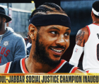 Carmelo Anthony of the Portland Trail Blazers has been named the inaugural Kareem Abdul-Jabbar Social Justice Champion.