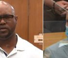 Terrence Floyd, the brother of George Floyd, is shown here asking killer-cop Derek Chauvin why he committed this murder.