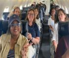 Texas Democrats announced their intention to leave the state (shown above on plane) Monday to break quorum in the Texas State Le
