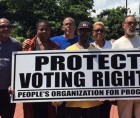 People's Organization For Progress (POP) recently held a press conference to condemn voter suppression and demand protection of