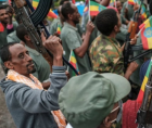Rebel forces in northern Ethiopia have been accused of killing more than a hundred civilians during fierce battles.