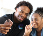 """Jay'Aina """"Jay Jay"""" Patton, a 12-year old teen from New York, has developed the Photo Patch app"""