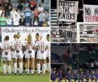Gotham FC and Washington Spirit halted play in the sixth minute of Wednesday's NWSL match as an act of solidarity