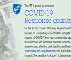 AFT Innovation Fund is proudly awarding COVID-19 response grants to help support locals' efforts