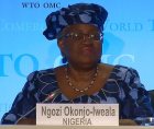 """Ms Okonjo-Iweala said she was """"immensely humbled"""" to be nominated."""