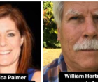 """Monica Palmer and William Hartmann stood in the doorway, attempting to block democracy from finding its way."""""""