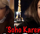The woman dubbed SoHo Karen has been identified as Miya Ponsetto - who is believed to be a former cheerleader from California.