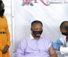 I received my first dose of the COVID-19 vaccine. I was honored to be accompanied by Dr. Kizzmekia Corbett, the brilliant Africa
