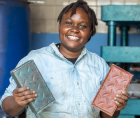 Nzambi Matee, an entrepreneur from Kenya who is the founder and owner of Gjenge Makers