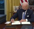 Biden's recent executive action to make it easier for Americans to register to vote.
