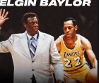 Elgin Baylor, the Lakers' 11-time NBA All-Star who soared through the 1960s with a high-scoring style of basketball