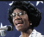 Shirley Anita St. Hill Chisholm was the first African-American woman in Congress (1968)