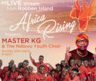 performing live on Robben Island for Africa Rising and the Live Love non-profit, along with international personality Maps Mapon