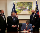 voter suppression bill signed into law by Georgia Governor Brian Kemp.