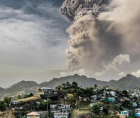 recent volcanic eruptions and activity that started on April 9 at the La Soufrière volcano volcano in St. Vincent
