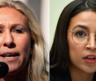 Republican Rep. Marjorie Taylor Greene confronted Democratic Rep. Alexandria Ocasio-Cortez outside the House chamber on Wednesda