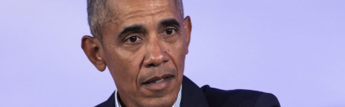 Former President Barack Obama is speaking about the urgent need for Democrats to pass voting rights legislation
