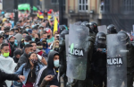 the Colombian government has lashed out with a military styled repression against the millions of protestors