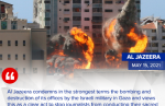 Israeli bombs destroyed a high-rise building in Gaza City that housed offices of The Associated Press, Al-Jazeera and other medi