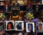 racially motivated murder of nine Black parishioners during a Bible study at the Emanuel AME Church in Charleston, South Carolin