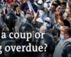Tunisia, the president's sacking of the prime minister and shutdown of parliament looked like a coup. I