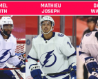 Mathieu Joseph, Gemel Smith and Daniel Walcott made NHL history on Monday night.