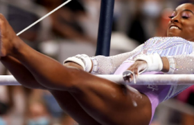 Simone Biles will be competing in Tuesday's balance beam final at the Olympic Games.