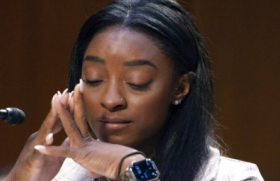 Olympic gymnast Simone Biles delivered emotional testimony before the Senate Judiciary Committee on Wednesday