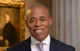 Brooklyn Borough President Eric Adams has a slight lead in the New York City mayoral race.