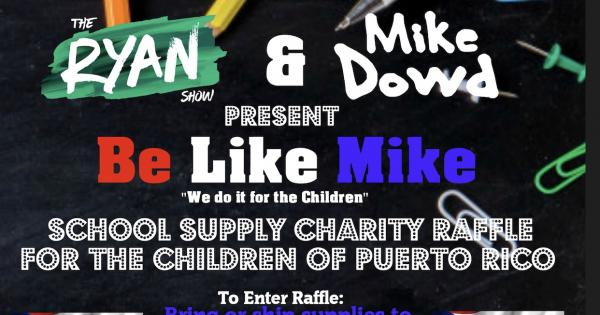 The Ryan Show x Mike Dowd Back-To-School Supply Drive