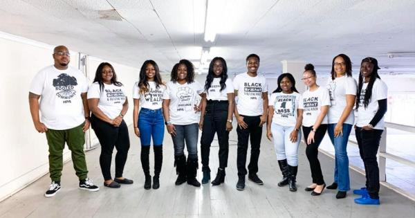 Higher Purpose Co. staff members pose for a photo. Credit: Higher Purpose Co.