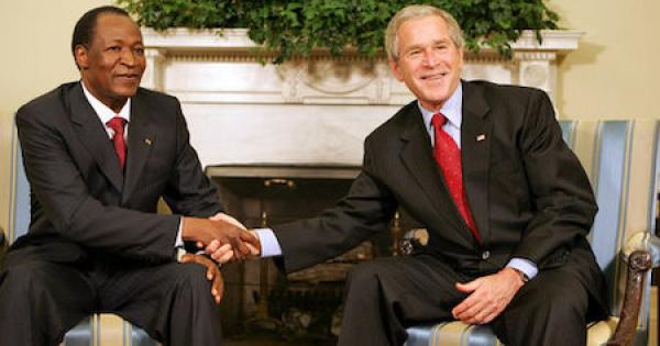 Compaore with Bush