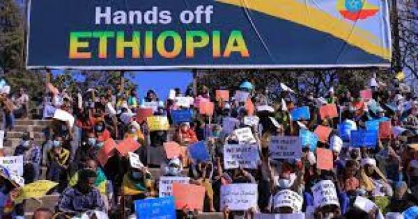 Hands Off Ethiopia rally