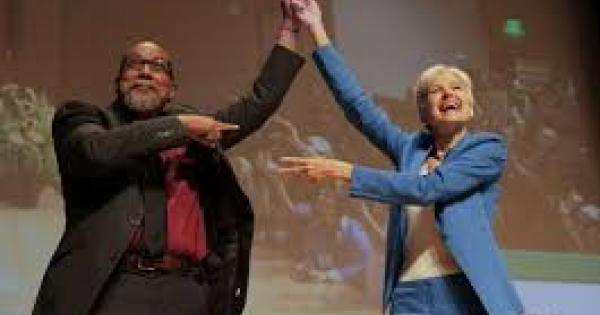 Jill Stein and Ajamu Baraka at the Green Party Convention in Houston, August 2016