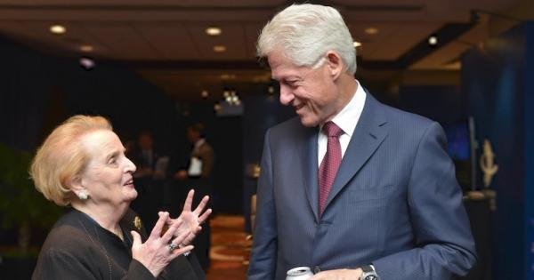 Madeline Albright and Bill Clinton