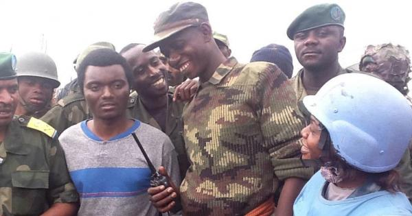 Mamadou Moustafa Ndala, Operations Commander of the Congolese Armed Forces in North Kivu, center
