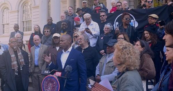 Protest Outside NY City Hall after the October 2019 takeover of WBAI