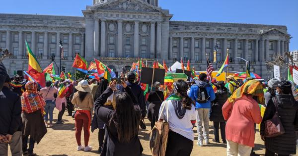 Rally for Ethiopia and Eritrea in San Francisco