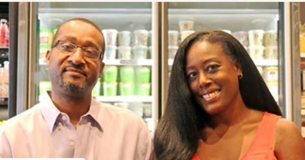 Cajou Creamery, a plant-based handcrafted ice cream brand founded by Chef Dwight Campbell and his wife Nicole Foster